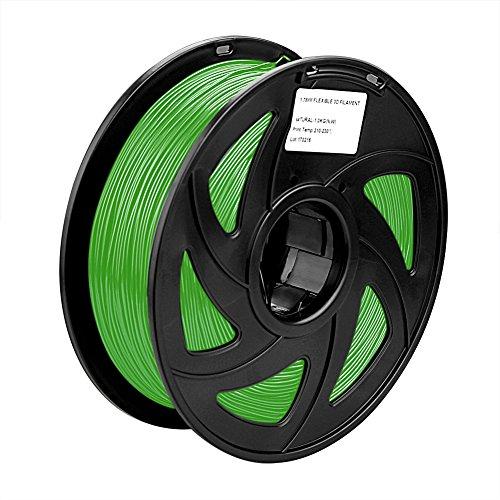SIENOC 1 Packung 3D Drucker PLA 1.75mm Printer Filament - Mit Spule 1kg (Grün)