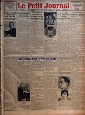 PETIT JOURNAL (LE) [No 22092] du 12/07/1923 - DON STURZO d'occasion  Livré partout en Belgique
