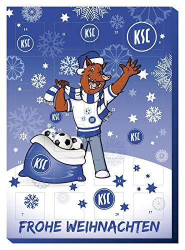 Adventskalender mit Milchschokolade KARLSRUHER SC (120 Gramm / 35 x 25 x 1,5 cm) Limited Fan Edition Sc-led