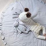 PUDDINGT Kriechende Matte Baby Infant Playmat Decke Spielen Spielmatte Raumdekoration Runde Krabbeln Aktivität Pad Teppichboden Hause Teppich Geschenk,Pink