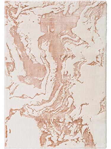 Benuta Waschbarer Kurzflor Teppich Luis Beige/Kupfer 150x230 cm - Moderner Teppich für Wohnzimmer -