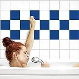 Fliesenaufkleber für Küche und Bad | Fliesenfolie für 15x15cm Fliesen | einfarbig enzianblau matt | 52 Stück | Klebefliesen günstig in 1A Qualität von PrintYourHome