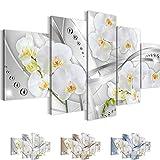 Bilder 200 x 100 cm - Orchidee Bild - Vlies Leinwand - Kunstdrucke -Wandbild - XXL Format – mehrere Farben und Größen im Shop - Fertig Aufgespannt !!! 100% MADE IN GERMANY !!! - Blumen – Abstrakt 205351a