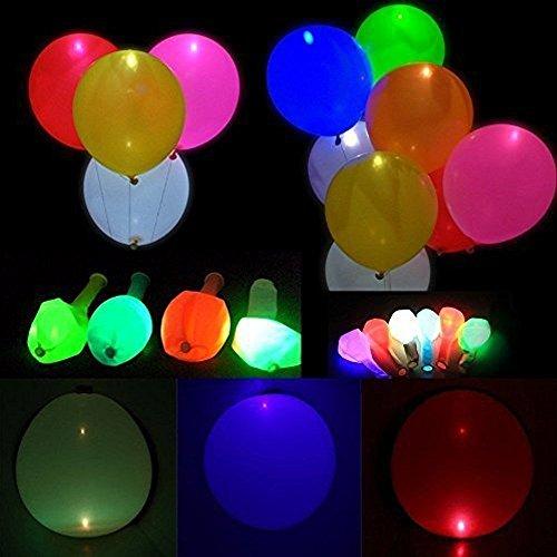 ende Luftballons Blinkendes Licht - Gemischte Farbe für Weihnachten / Geburtstag / Hochzeitsfest (Dunkel Lila Luftballons)