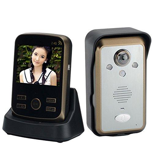 Shopinnov Interphone audio vidéo sans fil Moniteur 3.5 pouces Detection de mouvement PIR