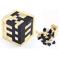 Cisixin Puzzle 3D Cervello di Legno Rompicapo Cube Puzzle Game - Gioco di Mente Cubo per i Bambini