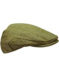 74343752852 Tweed Flat Cap - Premium Scottish Tweed - Teflon Coated - Farmers Shooting  Hunting Equestrian Outdoors Country…