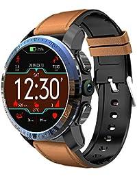 Intelligente Uhr 4g Android 7.1 3gb 32gb mit GPS 8 Millionen Pixel-Kamera 1,39 Zoll AMOLED-Bildschirm 800mAh-Batterie intelligente Uhrmänner Kospet (Brown)