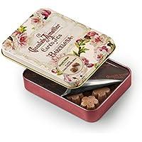 Chocolate Amatller Flors - Bombones chocolate con leche y Frambuesa en caja metal - 4 cajas de 72 gr. (Total 288 gr.)
