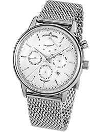 Jacques Lemans Unisex-Armbanduhr Nostalgie Analog Automatik Edelstahl N-211C