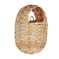 Flamingo Tropical Wicker Nest for Birds