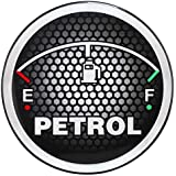 Sepia SPP 004 Universal Car Fuel Badge Sticker (Black and Grey)