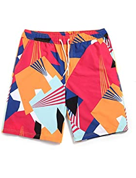 OME&QIUMEI Playa Pantalones Masculinos Amantes De Verano Seca Y Floja Velocidad Casual Masculino Pantalones Playa...