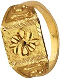 Mens Jewellery Fashion Gold Plated Antique Flower Design Ring