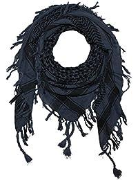 Superfreak® Pañuelo pali de dos colores clásico°chal PLO°100x100 cm°Pañuelo palestino Arafat°100% algodón – gris-azul oscuro/negro
