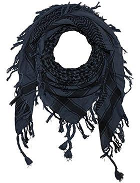 Superfreak® Pañuelo pali de dos colores clásico°chal PLO°100x100 cm°Pañuelo palestino Arafat°100% algodón – gris-azul...