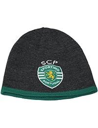 Puma acrylic Sporting Lisbon Portugal grey green reversible football beanie hat OSFA