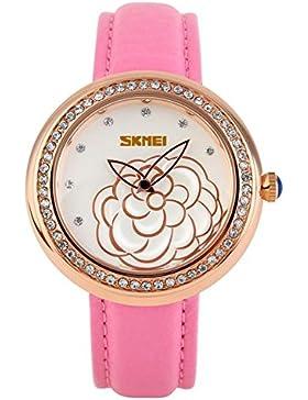 Elegante stilvolle Camellia klassische Vintage-Uhren/Mädchen Strass Mode Uhr-I