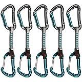 Mammut Bionic Straight Gate/Wire Gate - Cintas expréss - 5er Pack gris/Azul petróleo 2016
