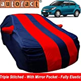 Autofact Car Body Cover for Maruti Swift Dzire (2012 to 2016) (Mirror Pocket , Premium Fabric , Triple Stiched , Fully Elastic , Red / Blue Color)