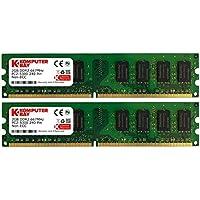 Komputerbay - Memoria DIMM para PC, 4GB (2 x 2GB), DDR2, 667MHz, PC2-5300/PC2-5400 667 (240 PIN)