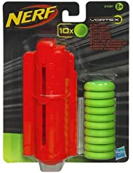 Hasbro – 33687 – NERF Vortex – Tech Kit – 10 Munitions et Chargeur de Disques en Mousse