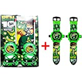 GurujiSales Ben-10 Walkie Talkie (WITH Battery) And Set Of 2 Projector Watches Combo Offer For Kids.