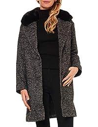 Levis -Abrigo con Ribete DE Piel SINTÉTICA 56304-0001 -Abrigo Mujer