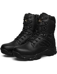 Botas Militar Ejército Militar Táctico Desierto Al Aire Libre Hombre Negro Acampar Senderismo Combate Encaje Zapatos De Cuero Superior Respirable