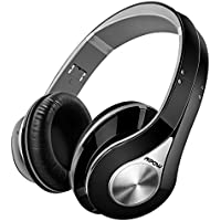 Bluetooth Headphones Mpow Over Ear Headphones, Foldable Stereo Wireless Headphones Ultra Soft Earmuffs, Built-in Mic for Mobile Phone TV PC Laptop (Headphones Storage Bag Included)