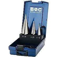 /Ø 4-30 mm als 3-teiliger Satz in der Metallkassette alpen 72200003100 HSS Stufen-Bohrer 2 3 Gr/ö/ße 1