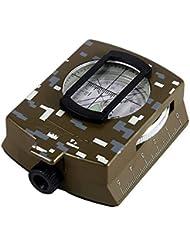 SUPEREX® Militär Marschkompass / Peilkompass Kompaß Military Compass Premium Qualität für Outdoor Wandern Camping (Camouflage oder Militärgrün)