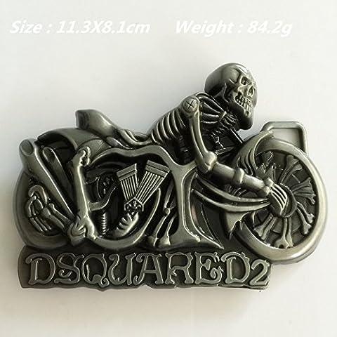 Nueva venta al por menor Nuevo estilo fresco de los hombres de Dsquared 3D del cráneo del metal hebillas de cinturón Fit 4 cm de ancho de lujo de moda de la correa de accesorios Jeans