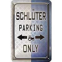 Blechschild 20x30 Mitsubishi parking only Auto Werkstatt Garage Parkplatz Schild