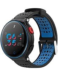 PURATEN Pulsera de Salud Deportiva IP68 Reloj Inteligente Impermeable con Monitor de Ritmo Corazón Podómetro Fitness
