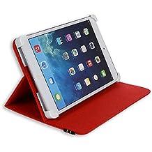 "Danystar - Carcasa universal para tablet de 8"" como Acer Iconia W3, Alcatel One Touch Pixi 8, Archos 80 Xenon, Archos G9 Turbo 8, Archos 80 Titanium, Asus Zenpad 8.0 Z380KL, Asus ZenPad S Z580CA, iRULU eXpro 1S Tablet (X1S) 8"", Huawei S8, Huawei M2-801L, Huawei MediaPad T1 8.0, Mediacom Smart Pad 875 S2, Mediacom SmartPad 8.0 S4, Mediacom WinPad 8.0 W801, Time2® 8"", Trekstor SurfTab Ventos 8.0 rojo"