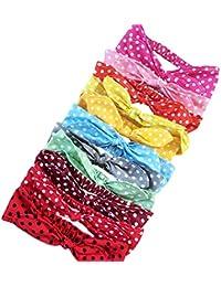 Freefisher Accesorios para el Pelo Venda Diademas a puntos de puro algodón: 10 x diadema(Entrega Al Azar Del Color)
