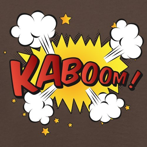 Superheld Kaboom - Herren T-Shirt - 13 Farben Schokobraun