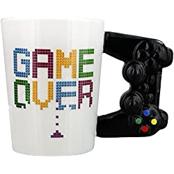 "Taza Original gamer ""Game Over"" mando de consola"