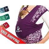SUPER PROMO! 35€ au lieu de 49€ Épargnez votre dos et gagnez 2 heures par jour avec Babypeta Baby Wrap Mains libres - Porte-bébé facile à attacher et favorisant le développement de liens affectifs