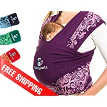 Protege tu espalda y ahorra 2h al día con el fular portabebés de Babypeta, perfecto para mamás activas. Fácil de atar, ayuda a crear lazos para bebés prematuros, recién nacidos y lactantes