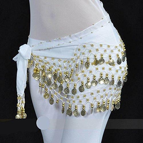 128pièces d'or Belly Dance Hip Écharpe Vogue Style, Idée Cadeau Style 2