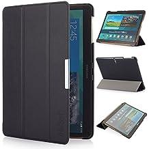 iHarbort® Samsung Galaxy Tab S 10.5 Funda - ultra delgado ligero Funda de piel de cuerpo entero para Samsung Galaxy Tab S 10.5 (T800 T805), con la función del sueño / despierta (negro)