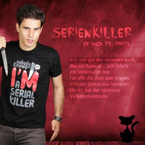 Serienkiller - Herren T-Shirt von Kater Likoli Deep Black