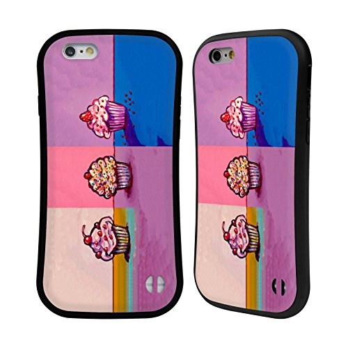 Ufficiale Howie Green Cupcake Cosmico Cibo E Bevande Case Ibrida per Apple iPhone 7 Plus / 8 Plus 3 Cupcakes