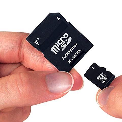 XLYNE micro-SDHC-Speicherkarte mit Adapter │4 GB Fotopro│Class 10│microSD-Karte, Flash Memory│Ideal für Fotos/Videos/Audio/Smartphones
