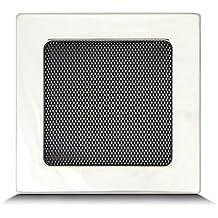 Rejilla de ventilación rejilla de aire Rejilla de aire caliente para chimenea–geschliffener Acero tamaños diferentes 10,5x 25cm 17x 11cm 17x 17cm 17x 30cm 17x 40cm 17x 50cm–Con O Sin Láminas