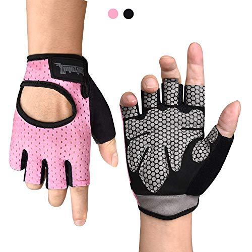 Fitself Fitness Handschuhe Damen Herren Atmungsaktive Trainingshandschuhe für Gym Krafttraining Crossfit Bodybuilding Gewichtheben Workout Reiten