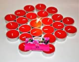 #10: Pure Source India Scented Tea Light Candle (Red Rose) Smokeless Candles Made In India (25 pcs Candles)
