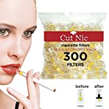 Cut-Nic filtros para cigarrillos, desechables, pack ahorro de 300 unidades